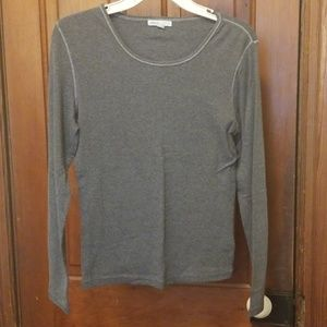 Grey form fitting long sleeve